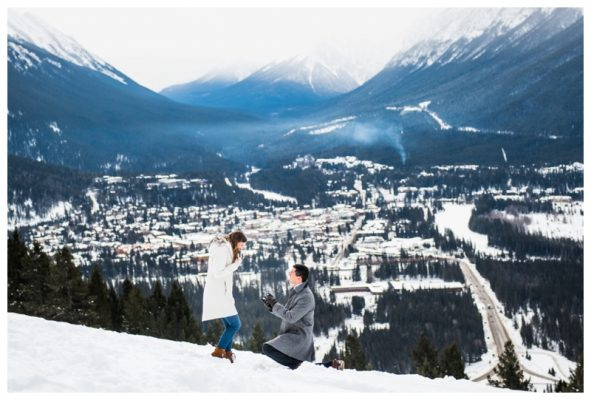 Banff Proposal Photography | Eric & Katie | Banff Wedding Photographer