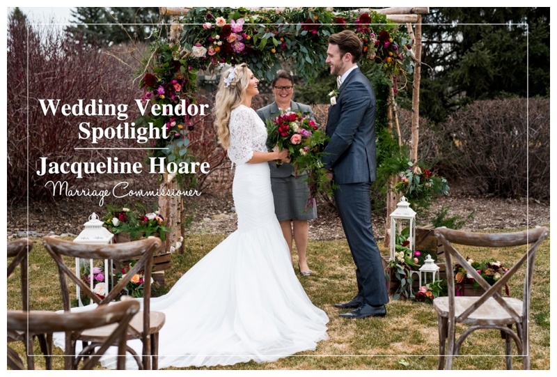 Calgary Wedding Vendor Spotlight | Jacqueline Hoare Marriage Commissioner