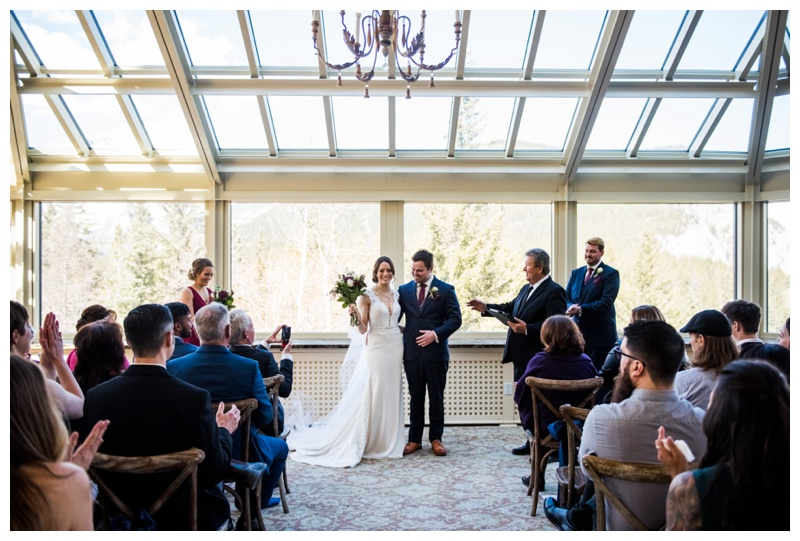 Banff Conservatory Wedding Ceremony - Banff Springs Hotel