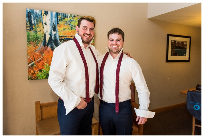 Banff Groom Prep Wedding Photos