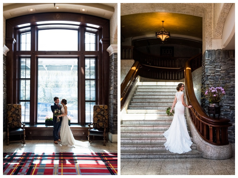 Bride & Groom Photography - Fairmont Banff Springs