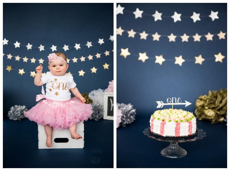 Calgary First Birthday Cake Smash Photos