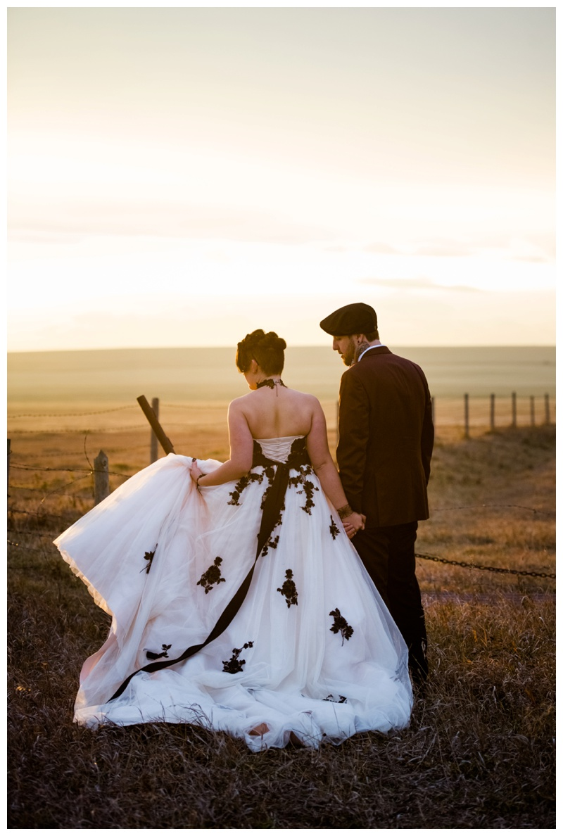 Colored Wedding Dresses - Calgary Alberta Wedding Photographer