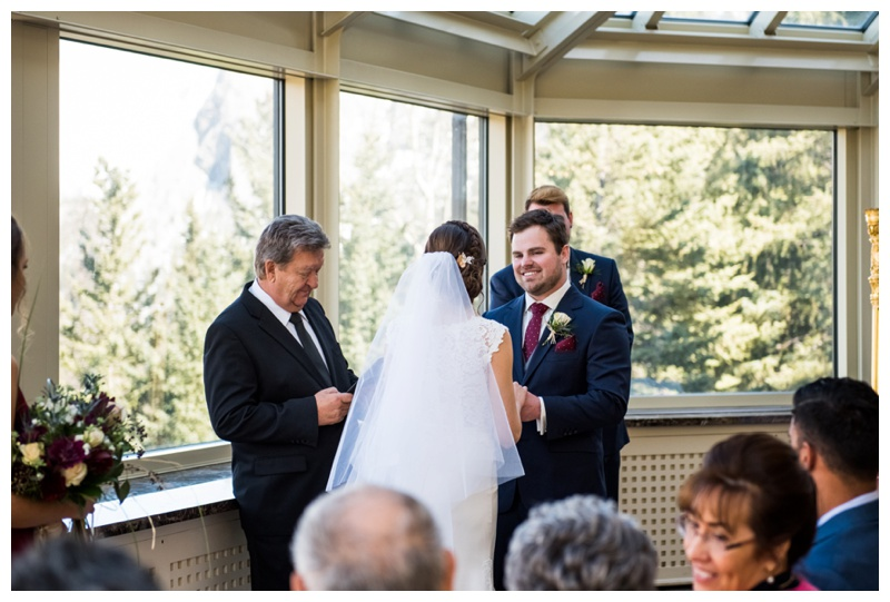 Fairmont Banff Springs Hotel Wedding Ceremony