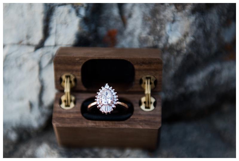 Heidi Gibson Engagement Ring - Banff Proposal Photos