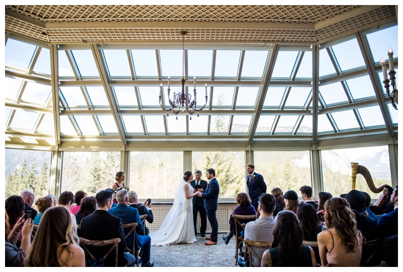 Banff Springs Hotel Wedding Ceremony - Banff Springs Conservatory Room