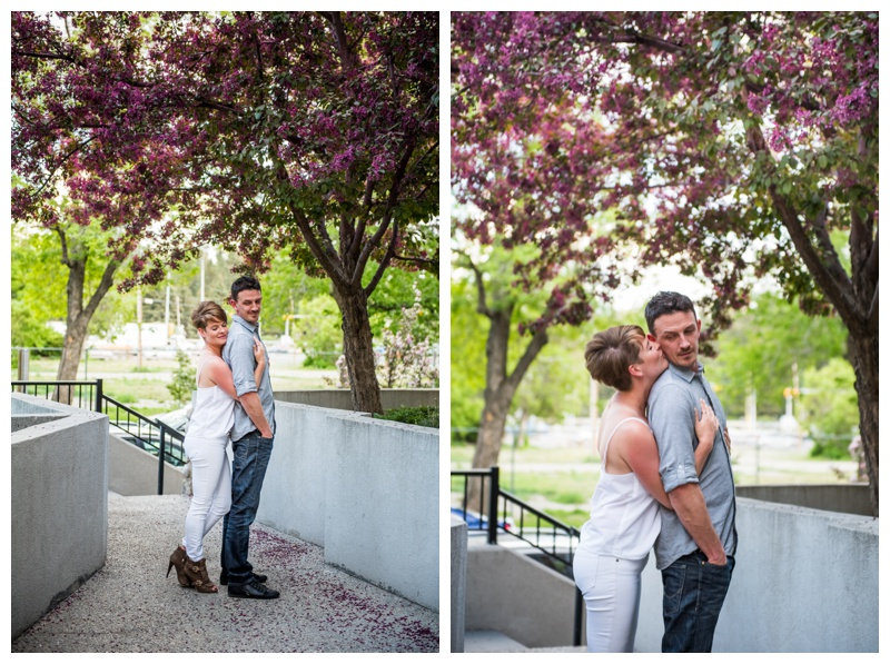 Calgary Cherry Blossom Engagement Session