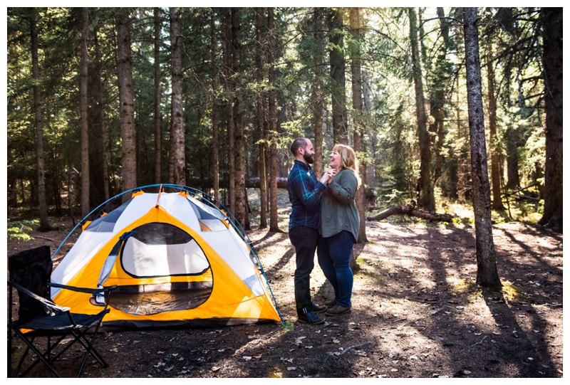 Camping Engagement Photography Canmore
