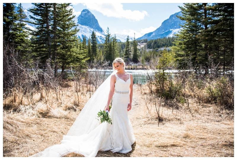 Canmore Bridal Portrait