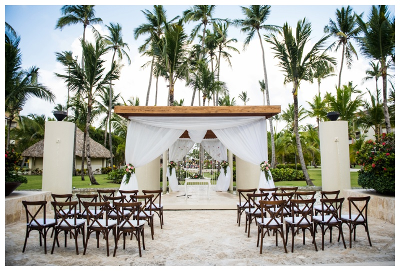 Dominican Republic Now Larimar Destination Wedding- Ceremony Set Up