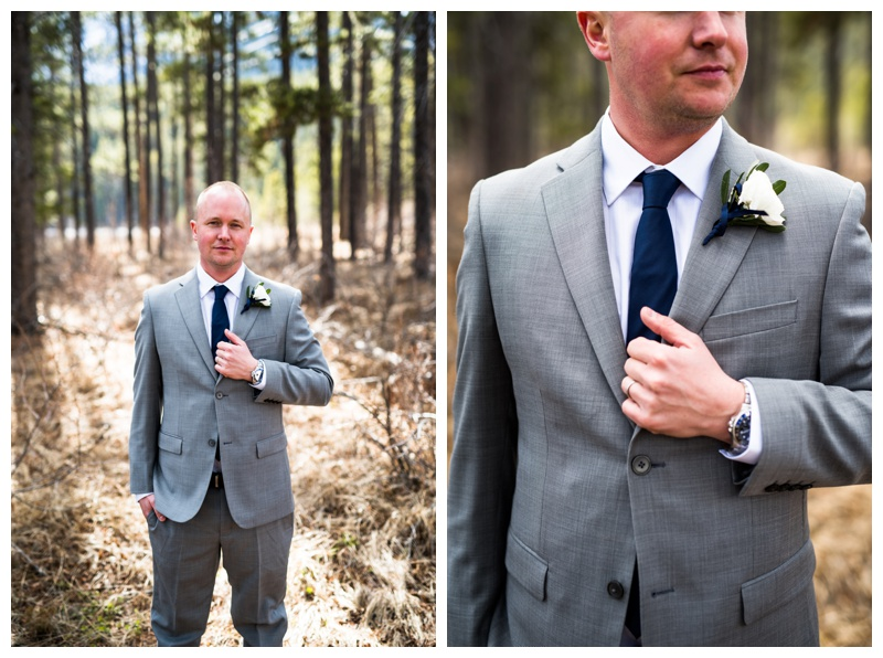 Groom Portrait - Canmore Wedding