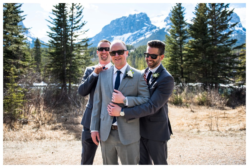 Groomsmen Wedding Photography - Canmore