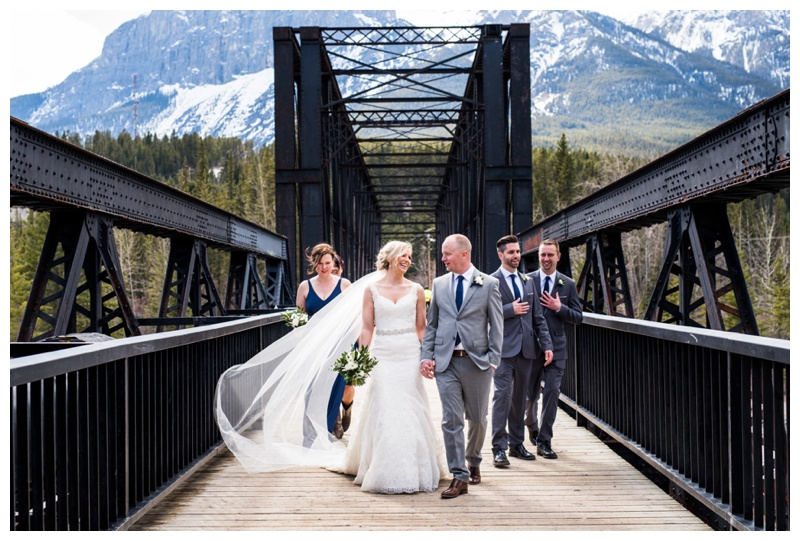 Iron Bridge Canmore Alberta Wedding