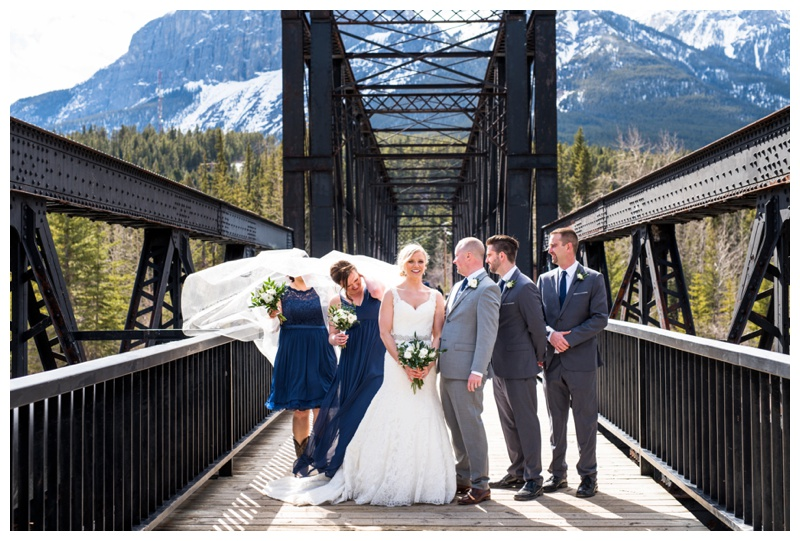 Iron Bridge Canmore Wedding Photography