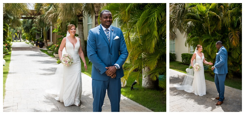 Now Larimar Destination Wedding- First Look Photography