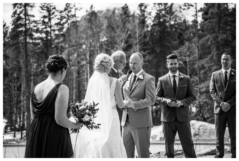 Outdoor Wedding Ceremony Canmore Alberta