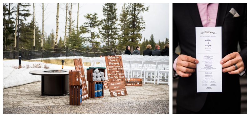 Silvertip Golf Course Wedding Canmore
