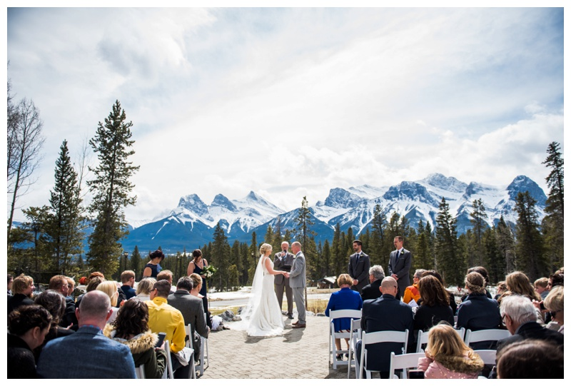Silvertip Golf Course Wedding Ceremony Canmore Alberta