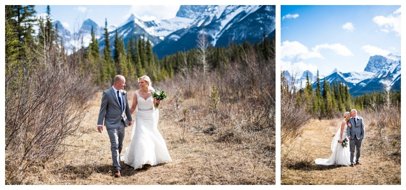 Spring Wedding - Canmore Alberta