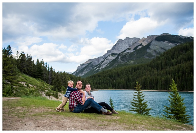 Banff Family Photos - Two Jack Lake Alberta