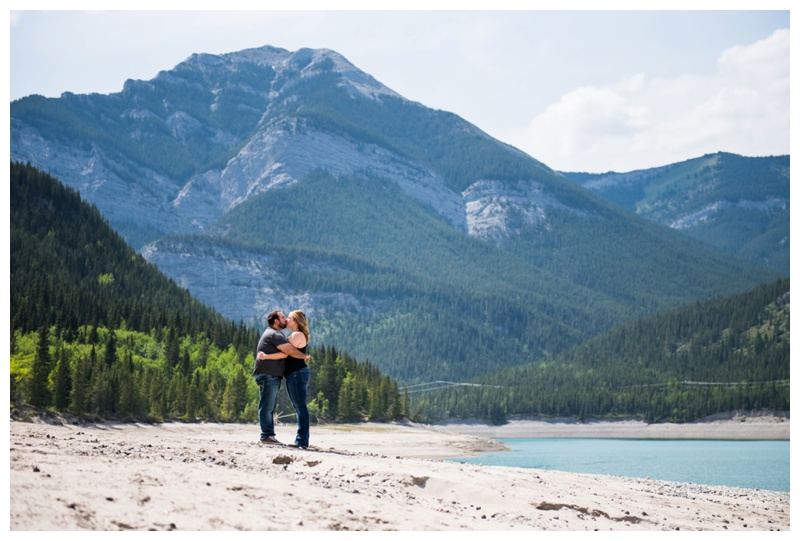 Barrier Lake Engagement Session - Canmore Photographer