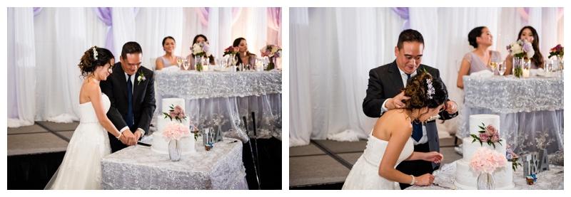 Cake Cutting - Calgary Hyatt Wedding Reception