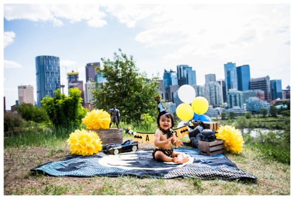 Batman First Birthday Cake Smash | Amar is ONE! | Calgary Cake Smash Photographer