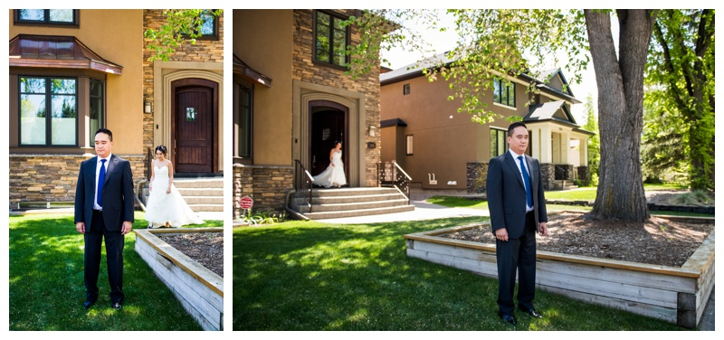 Calgary First Look Wedding Photogaphy
