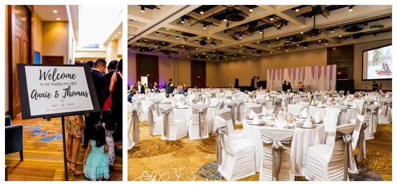 Calgary Hyatt Downtown Wedding Reception