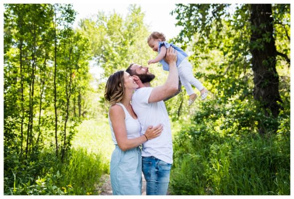 Pearce Estate Park Spring Family Session | Nora is ONE! | Calgary Family Photographer