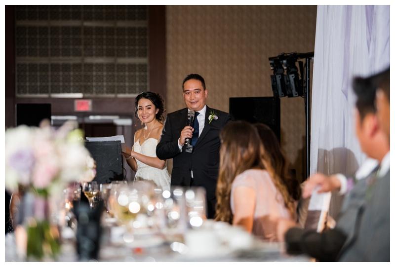 Hyatt Downtown Calgary Wedding Reception