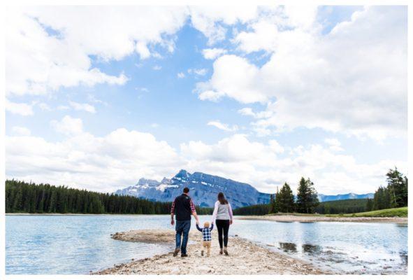 Two Jack Lake Family Session | Reddish Family | Banff Family Photographer