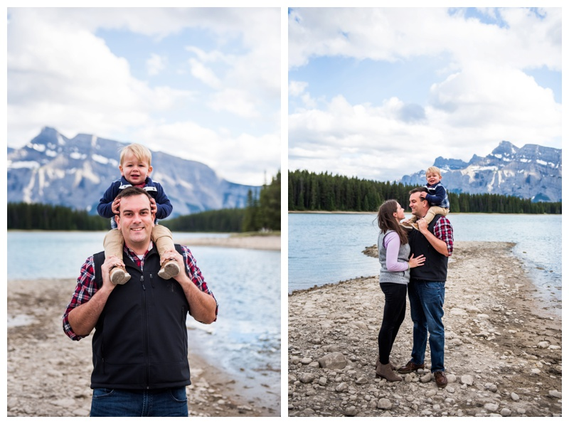 Two Jack Lake Family Session Banff Alberta