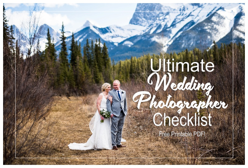 Ultimate Wedding Photographer Checklist - Free Printable