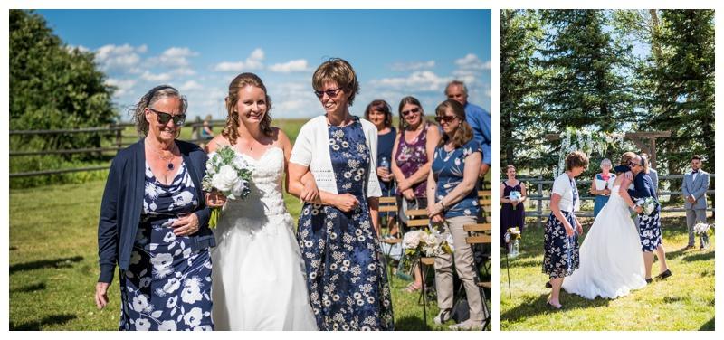 Acreage Wedding Ceremony Calgary