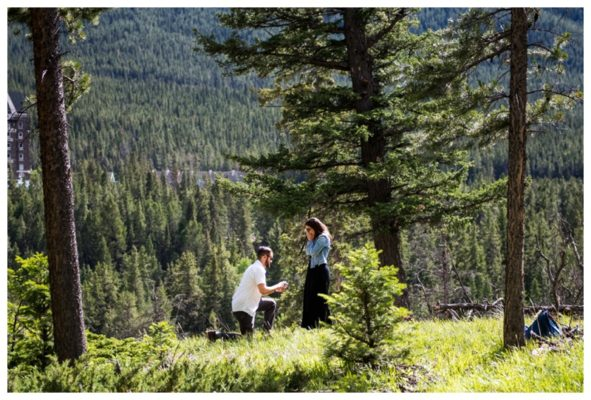 Banff Surprise Corner Wedding Proposal | Spencer & Nancy | Banff Engagement Photographer