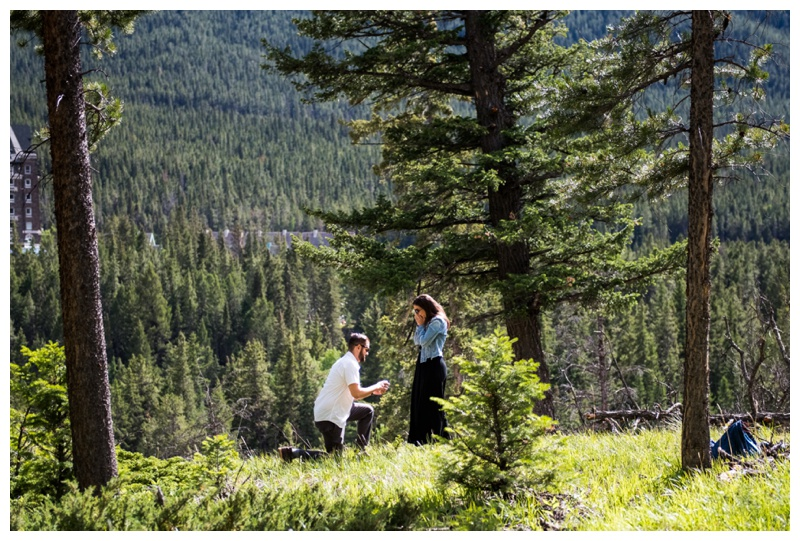 Banff Surprise Corner Wedding Proposal