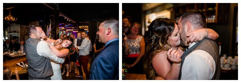 Cake Cutting Photos - The Lake House Calgary Wedding Reception