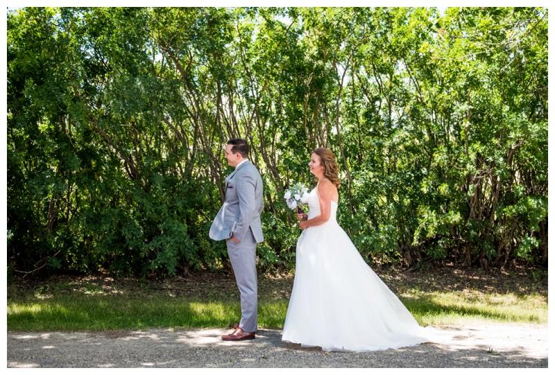 Calgary First Look Wedding Photos