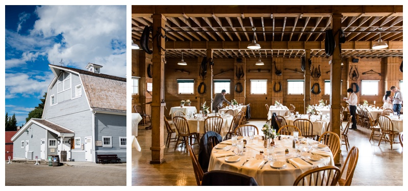 Calgary Gunn's Dairy Farm Wedding reception