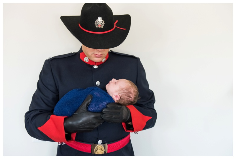 Calgary Police Themed Newborn Photos