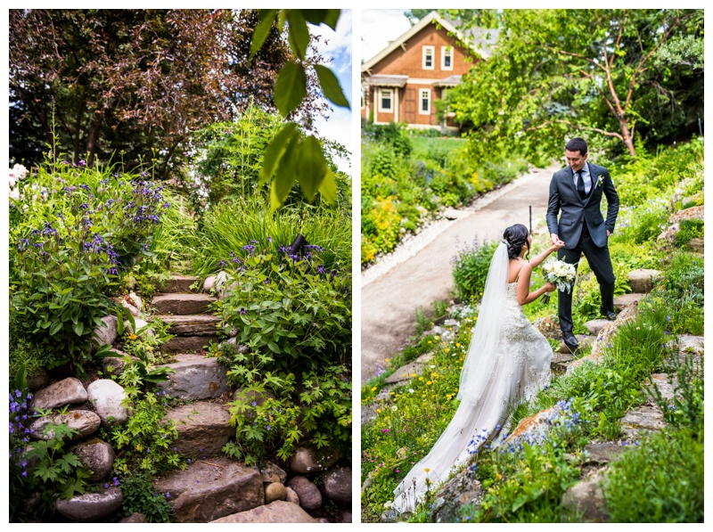 Calgary Reader Rock Garden Bride & Groom Portraits