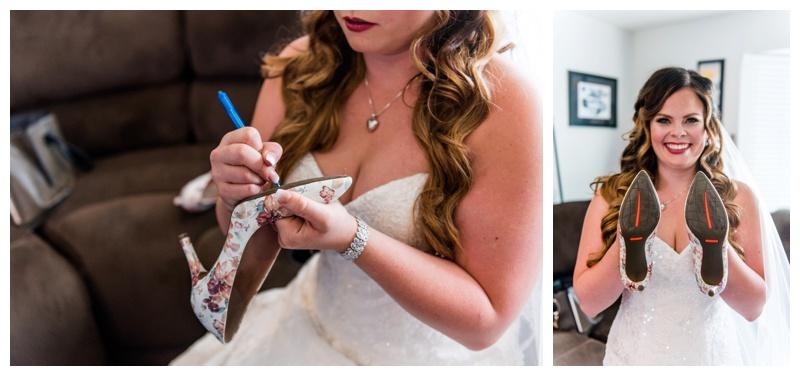 Calgary Spring Wedding - Bridal Prep Wedding Photos Calgary