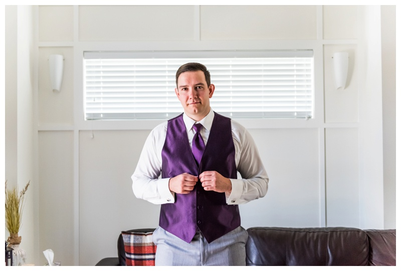 Groom Prep Wedding Photos - Chestermere