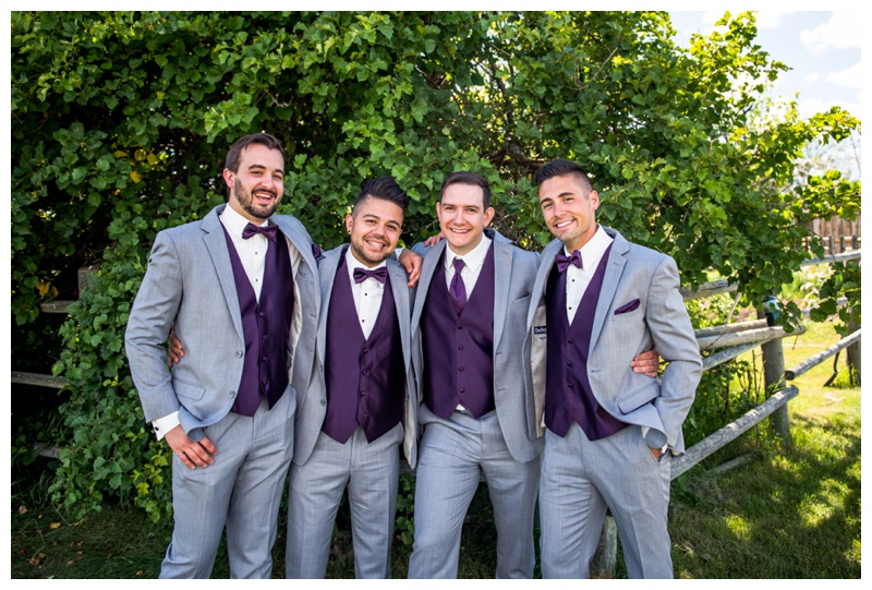 Groomsmen Wedding Photos Calgary