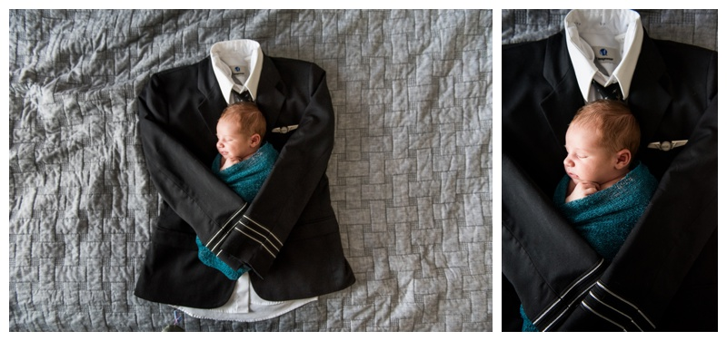 Pilot Themed Newborn Photos - Calgary Newborn Photographer