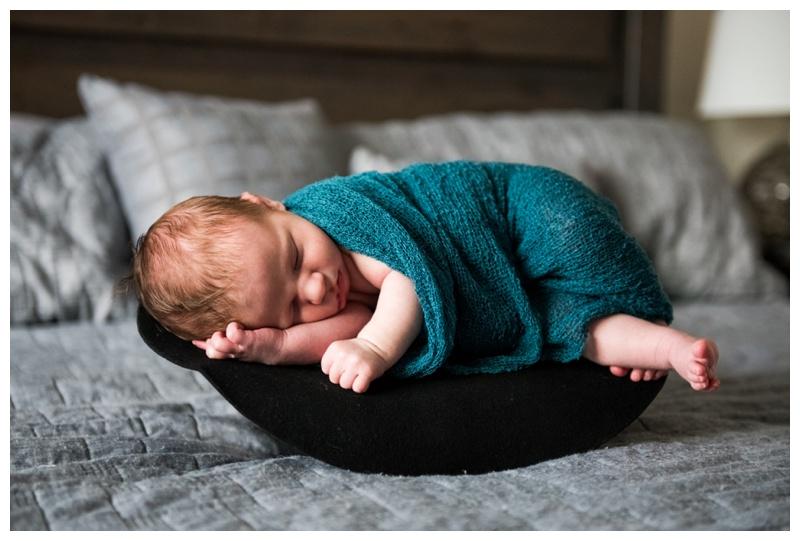 Police Themed Newborn Photos - Calgary Newborn Photographer