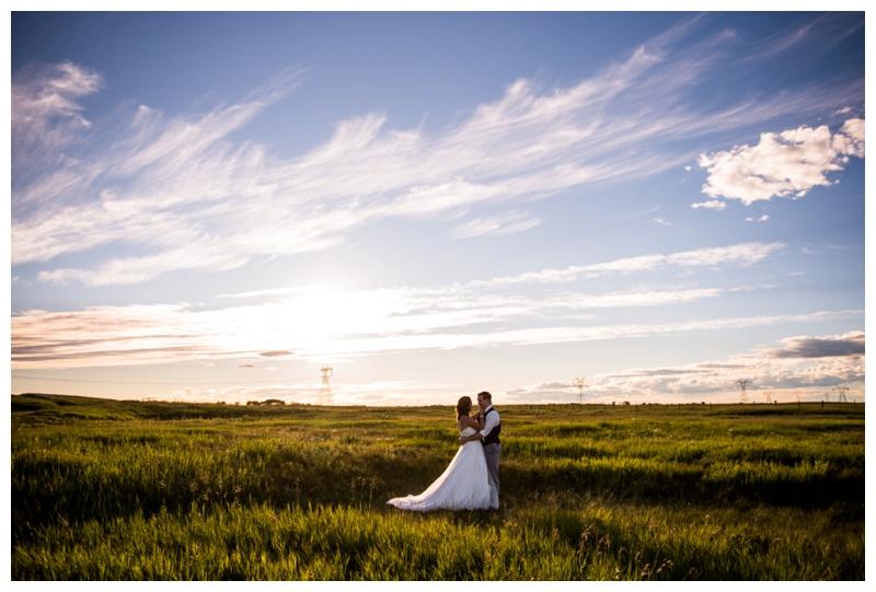 Sunset Wedding Photography Calgary ALberta
