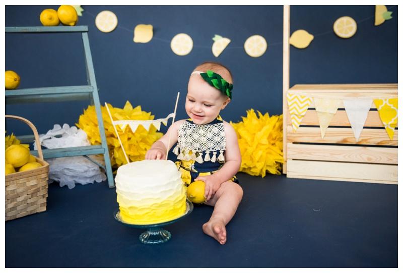 Calgary 1st Birthday Cake Smash Photos