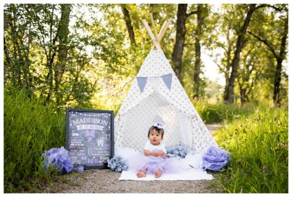 Calgary Park First Birthday Cake Smash | Maddison is ONE | Calgary Cake Smash Photographer